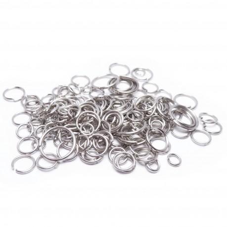 10g Kroužky platinové mix velikostí 4~10mm
