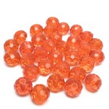 30ks Skleněné korálky broušené ~ 6mm červené