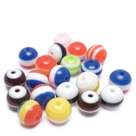 20ks Plastová kulička mix barev 8mm