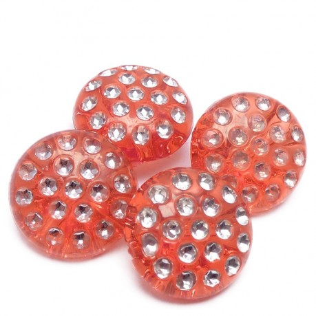 4ks Ozdobné knoflíky plastové 13x6.5mm červené