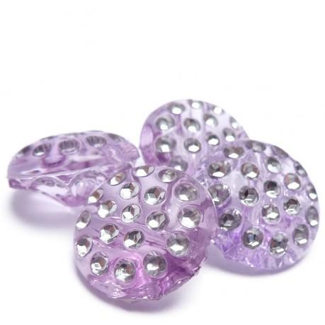 4ks Ozdobné knoflíky plastové 13x6.5mm fialové