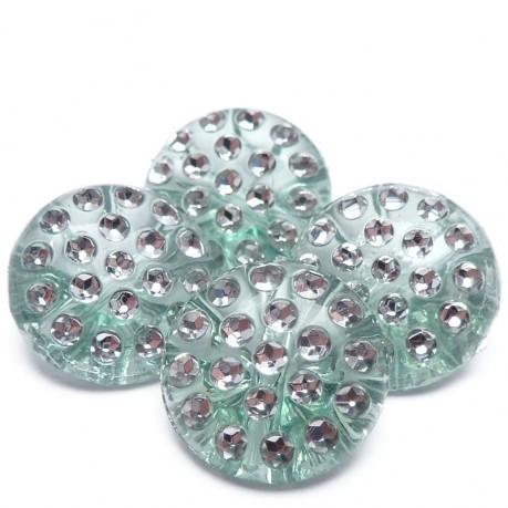 4ks Ozdobné knoflíky plastové 13x6.5mm zelené