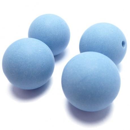 Korálky modrá koule plastová