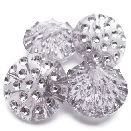 4ks Ozdobné knoflíky plastové 13x6.5mm šedivá