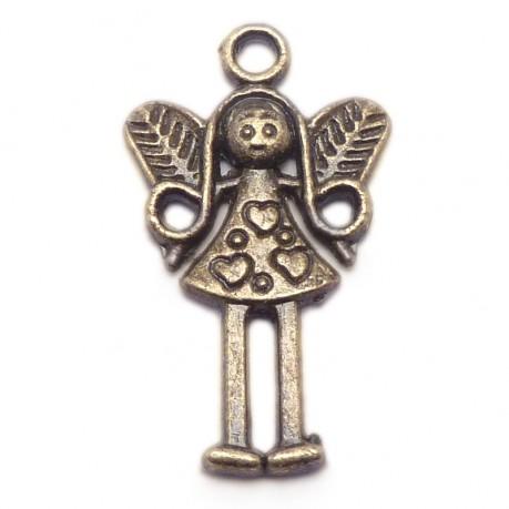 Přívěšek anděl antický bronz 2,5cm