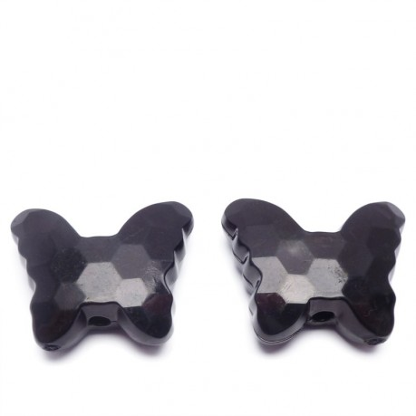 2ks Plastový motýlek černý