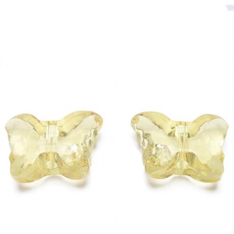 2ks Plastový motýlek žlutý