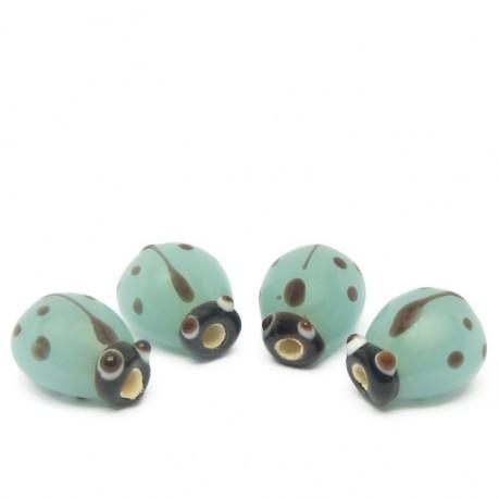4ks Modré vinuté perle beruška