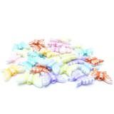 8g Motýl – plastové korálky barevný mix