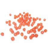 78ks Skleněné korálky broušené ~ 4mm červená