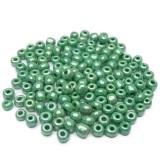 10g Skleněné korálky 4mm – zelený rokajl