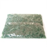 450g Skleněné korálky 2mm – zelený rokajl