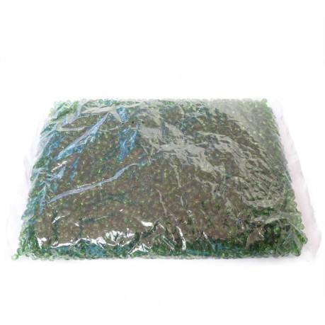 450g Skleněné korálky 4mm – zelený rokajl