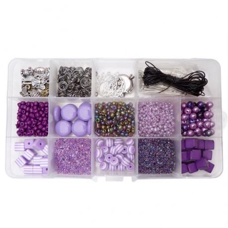 Sada korálků – fialová