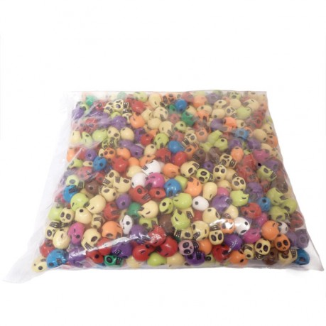 600ks / 500g Lebka plastové korálky mix