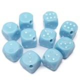 10ks hrací kostka modrá 13x13mm