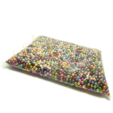 5000ks / 500g Plastové perle 6mm mix