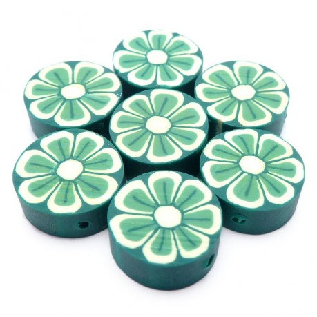 Fimo kytičkové placky (zelené)