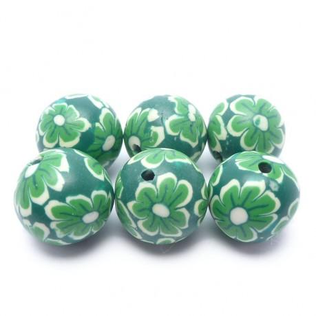 Fimo kytičkové kouličky (zelené)