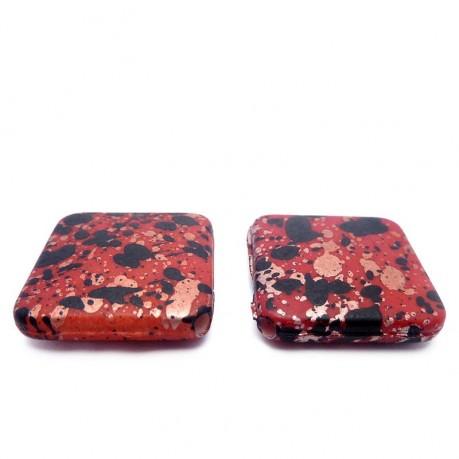 Plastové kosočtverce (červeno-černé)