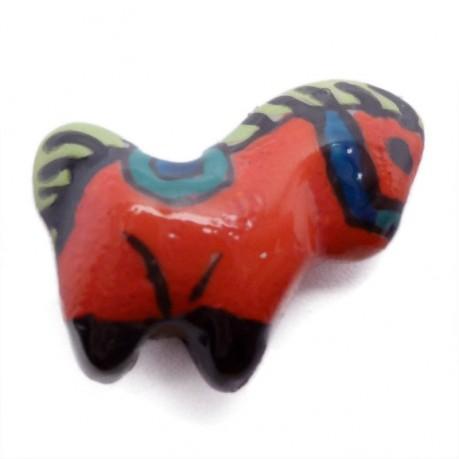 Porcelánový kůň (červený)