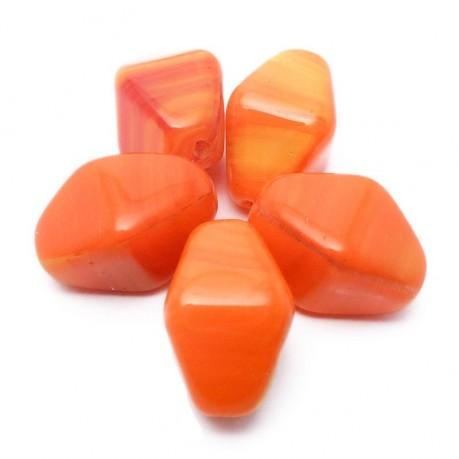 Mačkané korálky (oranžové)