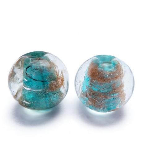 Vinuté perle se zlat.proužky (světle modré)