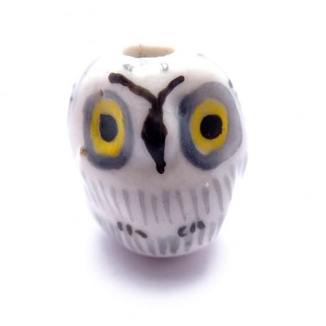 Porcelánová sova (bílo-šedá)