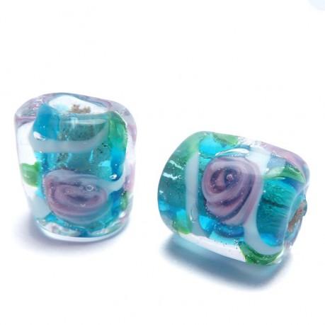 Vinuté perle s kytičkou (modré)