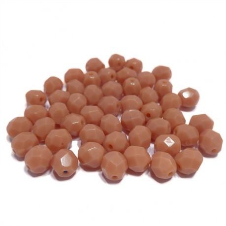 Broušené neprůhledné korálky (světle hnědé)