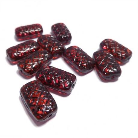 Mačkané obdelníčky (tmavě červené)