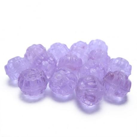 Plastové korálky (světle fialové)