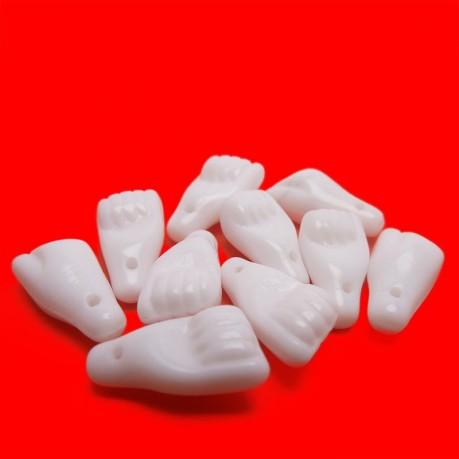 Mačkané ručičky (bílé)