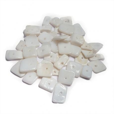 Zlomky z mušlí (bílé)