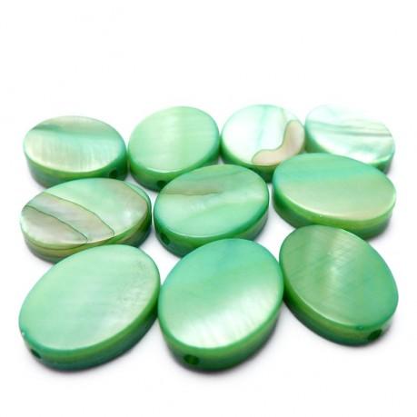 Perleťové oválky (zelené)