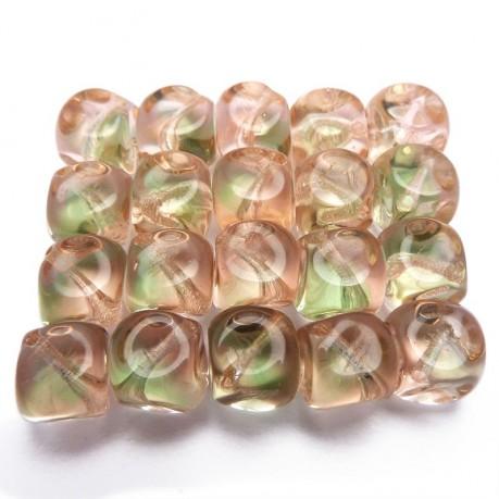 Mačkané tvarované kostičky (zeleno-růžové)