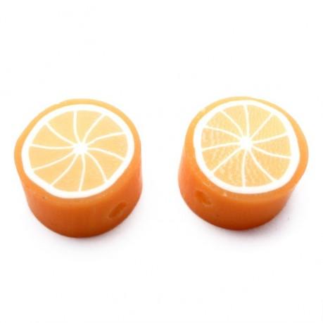 Fimo korálky - pomeranč