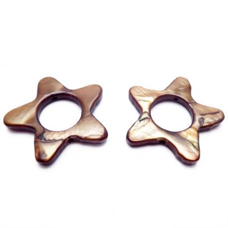 Perleťové hvězdičky (hnědá)