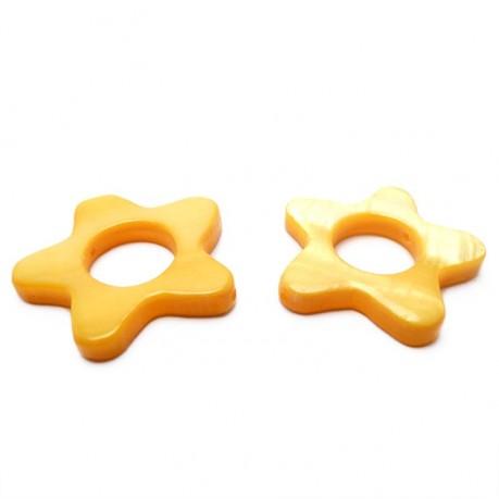 Perleťové hvězdičky (žlutá)