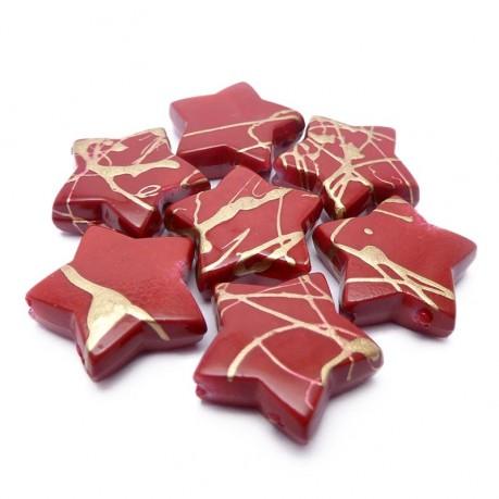 Plastové hvězdičky (tmavě červená)