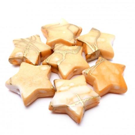 Plastové hvězdičky (světle žlutá)