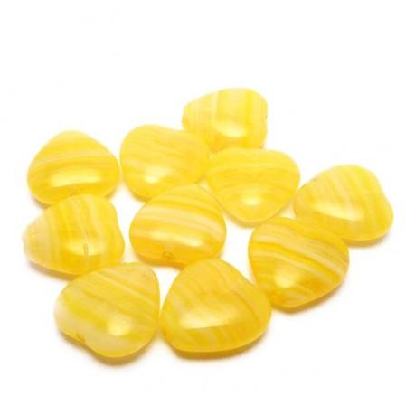 Mačkaná srdíčka (žlutá)