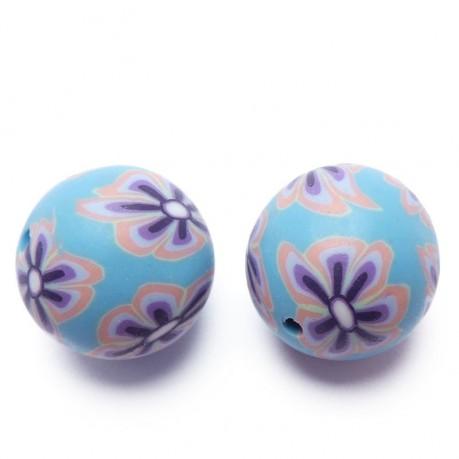 Fimo korálky ručně dělané (modro-fialové)
