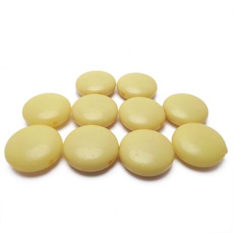 10ks Žluté lentilky plastové