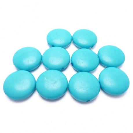 10ks Světle-modré lentilky plastové