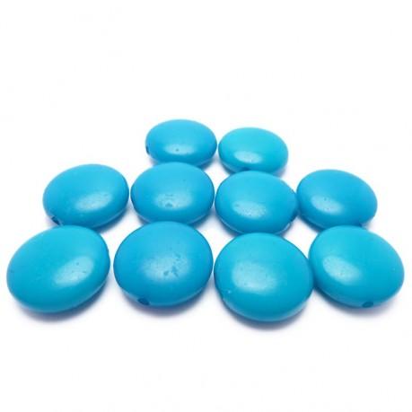 10ks Modré lentilky plastové