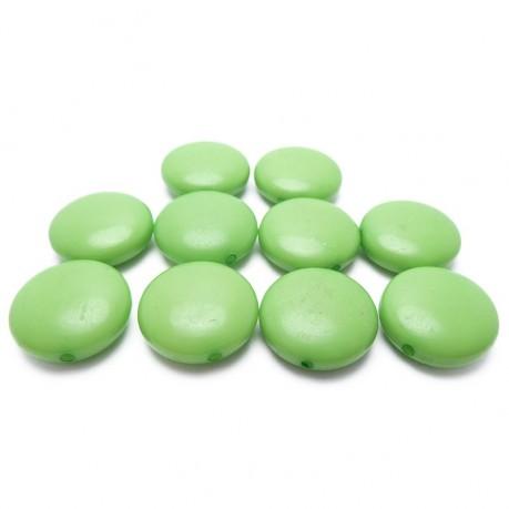 10ks Zelené lentilky plastové