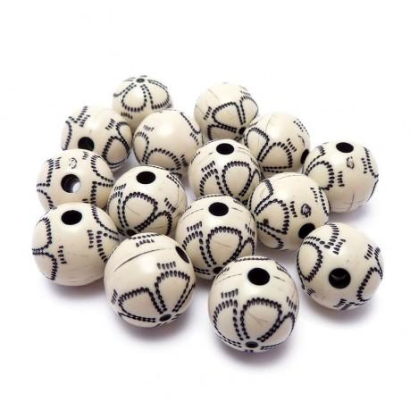 Plastové kuličky černo-bílé