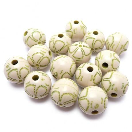 Plastové kuličky zeleno-bílé