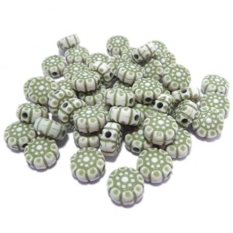 10g Zelené kytičky plastové